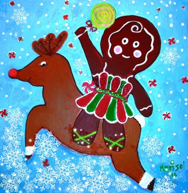 """""""To The North Pole,"""" acrylic on canvas, Marisol D'Andrea ,2015"""