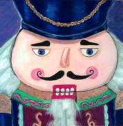 Portrait of Nutcracker, 2009, acrylic on canvas, 6 in x 6 in