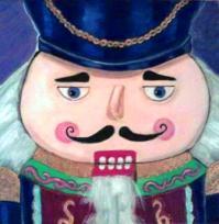 Portrait of Nutcracker, 2009, acrylic on canvas, 6 in x 6 in