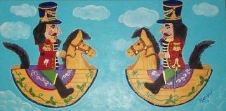 Nutty Feeling, 2011, acrylic on canvas, 15 in x 30 in