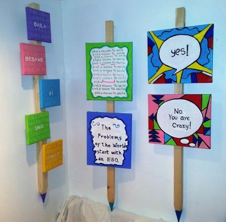 Words, acrylic on canvas
