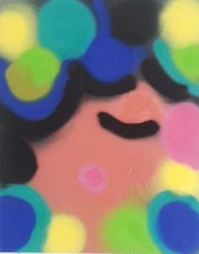 Spray paint on canvas, 2015, 20 in x 15 in, Marisol D'Andrea